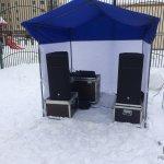 Аренда звукового оборудования с палаткой