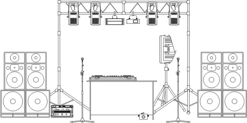 Инсталляции звукового и светового оборудования